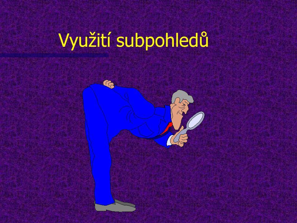 Obsah n 1) Co je to pohled? n 2) Co je to subpohled? n 3) Jak vytvořit subpohled? n 4) Příklad