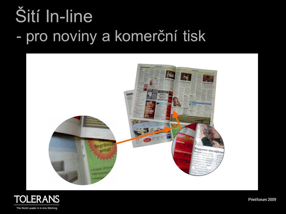 Printforum 2009 Šití In-line - pro noviny a komerční tisk