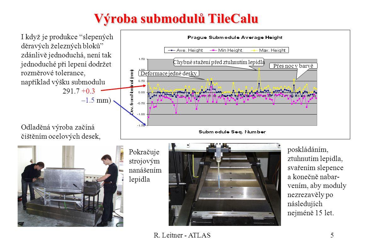 """R. Leitner - ATLAS5 I když je produkce """"slepených děravých železných bloků"""" zdánlivě jednoduchá, není tak jednoduché při lepení dodržet rozměrové tole"""