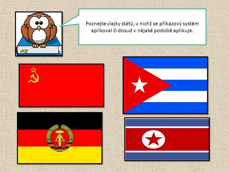 Poznejte vlajky států, v nichž se příkazový systém aplikoval či dosud v nějaké podobě aplikuje.