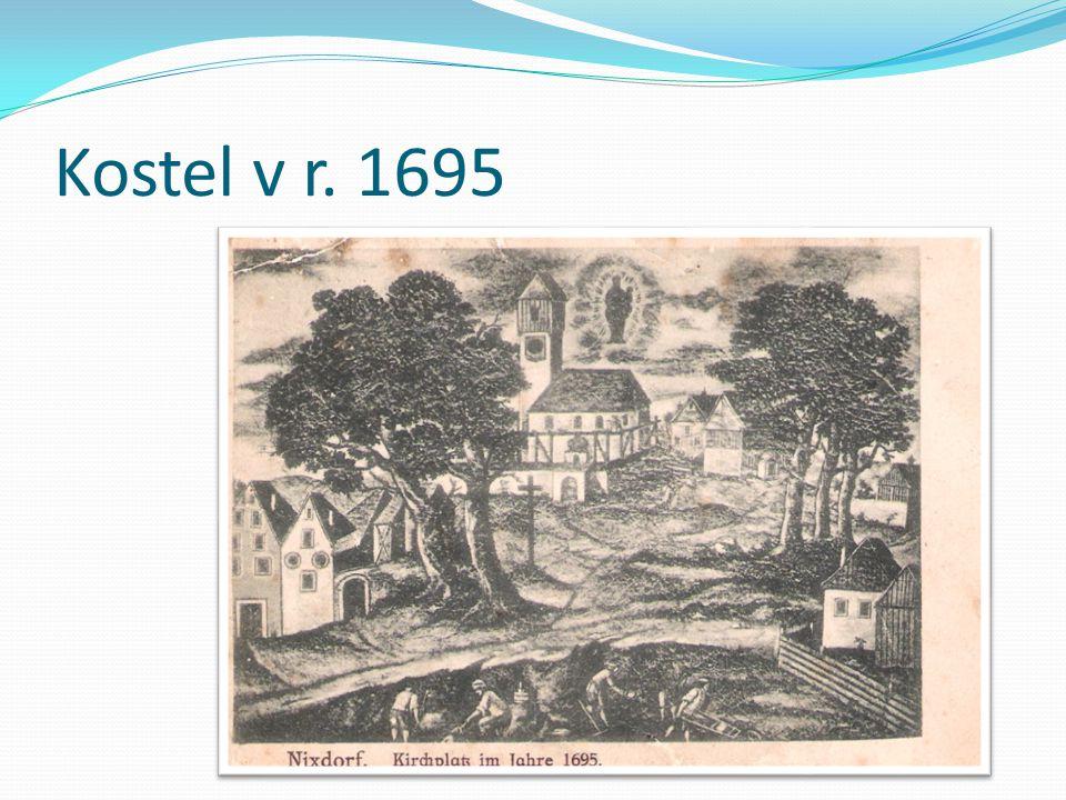 Kostel v r. 1695