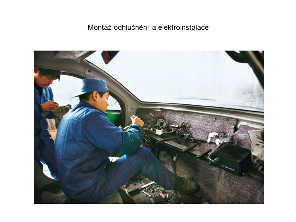 Montáž odhlučnění a elektroinstalace