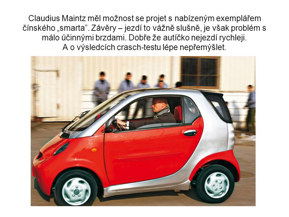 """Claudius Maintz měl možnost se projet s nabízeným exemplářem čínského """"smarta ."""
