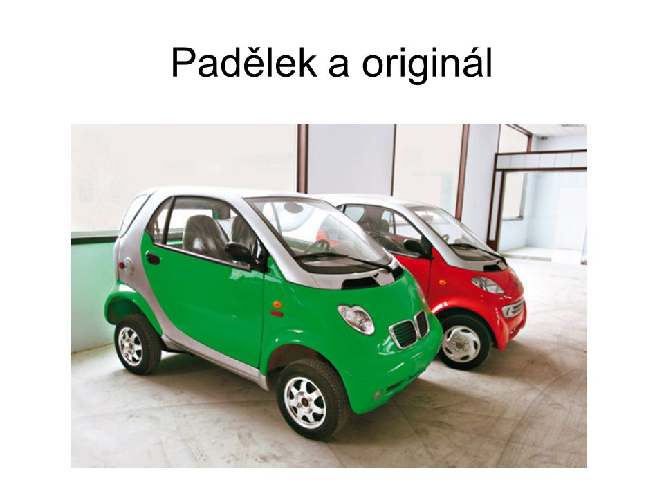 Padělek a originál