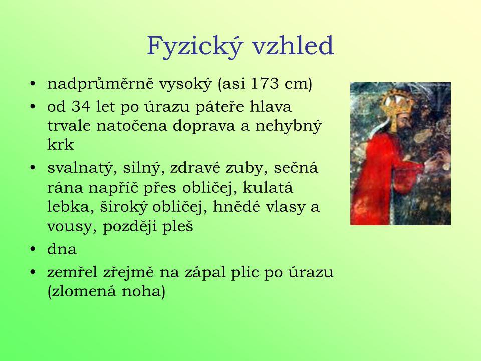 manželství 1. Blanka z Valois - stejný věk, 2 dcery 2. Anna Falcká - mladší o 13 let 3. Anna Svídnická - mladší o 23 let, císařovna, syn Václav 4. Eli