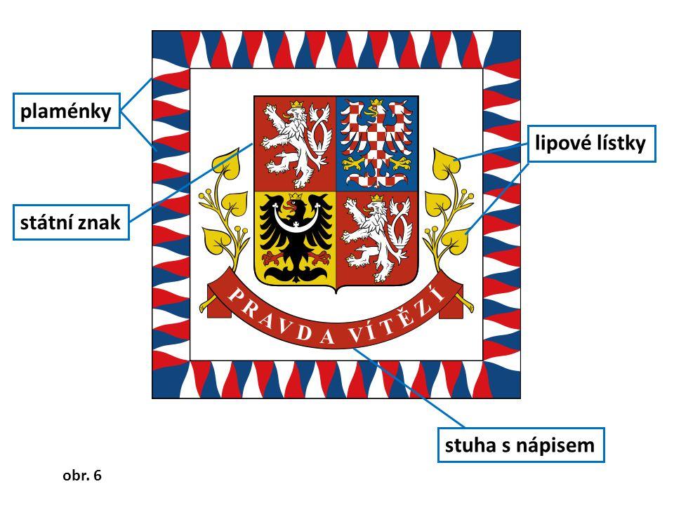 STÁTNÍ PE Č E Ť velký státní znak podložený lipovými lístky, dokola je nápis Česká republika Nápis Česká republika Velký státní znak lipové lístky obr.