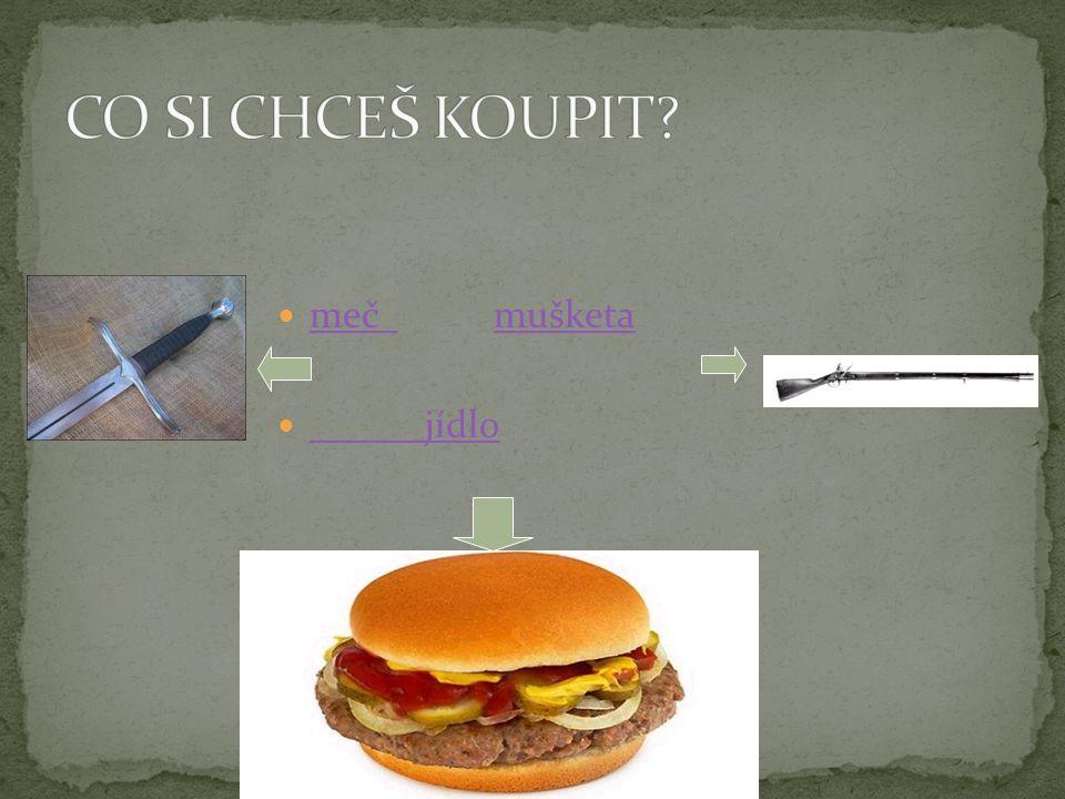 meč mušketa meč mušketa jídlo