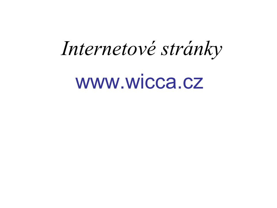 Internetové stránky www.wicca.cz