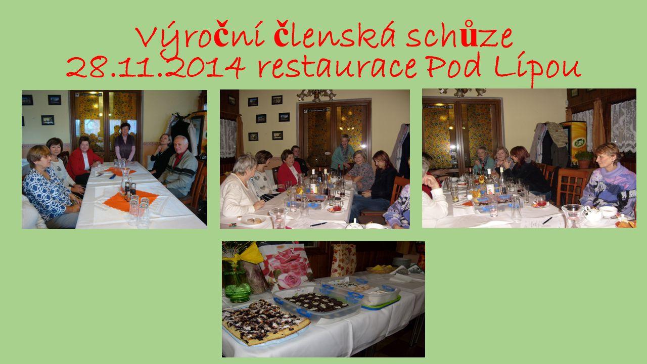 Výro č ní č lenská sch ů ze 28.11.2014 restaurace Pod Lípou