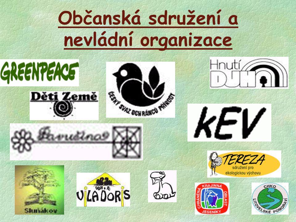 Občanská sdružení a nevládní organizace