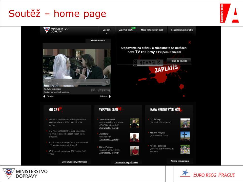 Soutěž – home page
