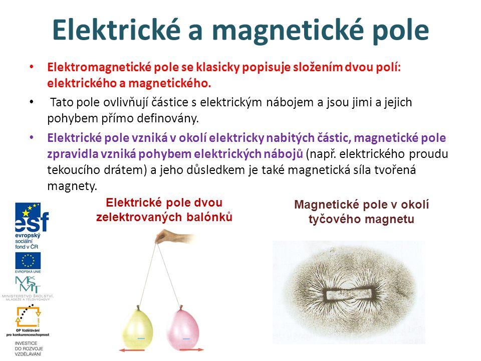 Elektrické a magnetické pole Elektromagnetické pole se klasicky popisuje složením dvou polí: elektrického a magnetického. Tato pole ovlivňují částice