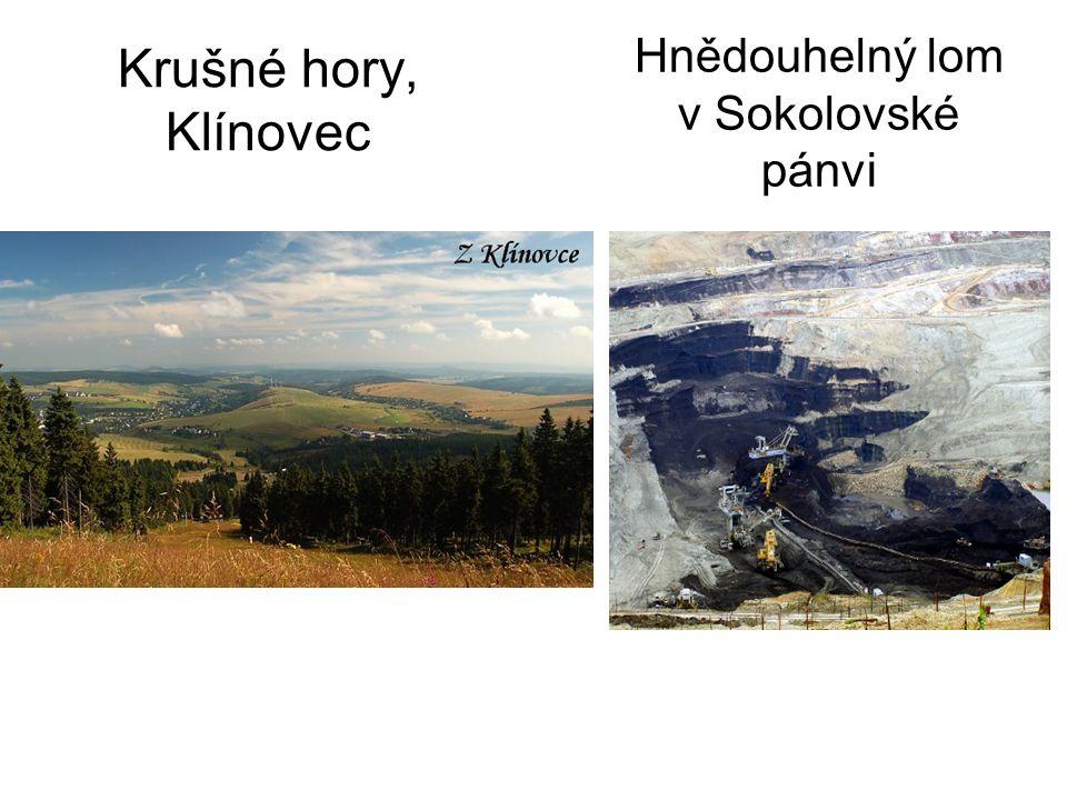 Krušné hory, Klínovec Hnědouhelný lom v Sokolovské pánvi