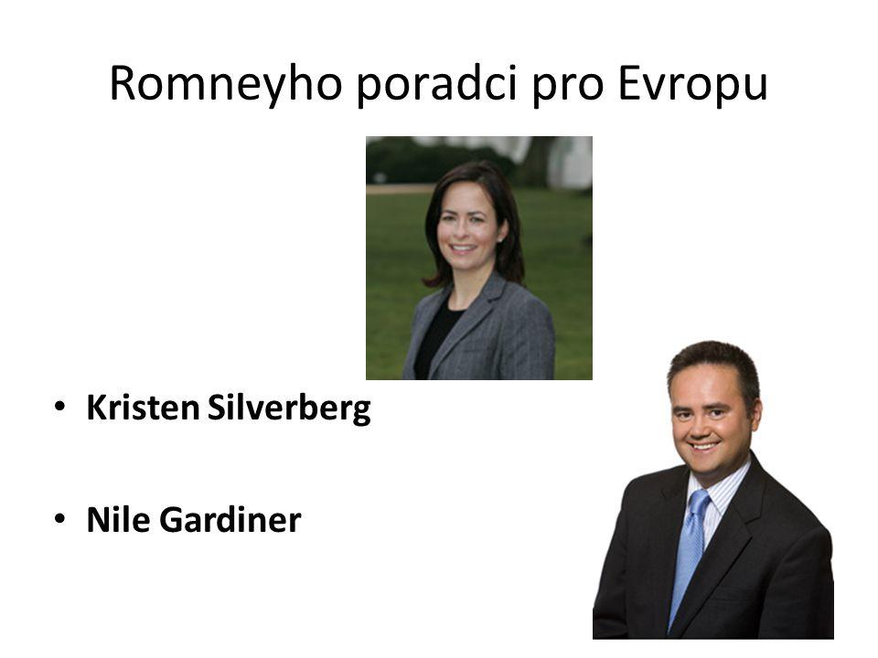 Romneyho poradci pro Evropu Kristen Silverberg Nile Gardiner