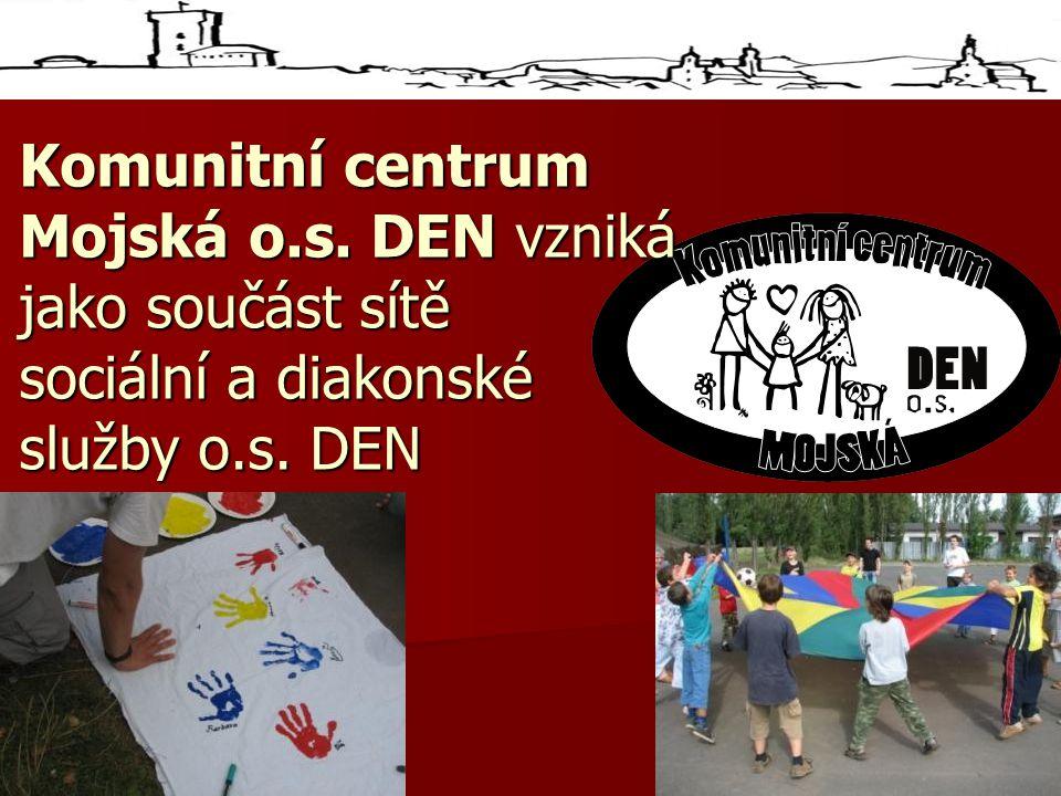 Komunitní centrum Mojská o.s. DEN vzniká jako součást sítě sociální a diakonské služby o.s. DEN.