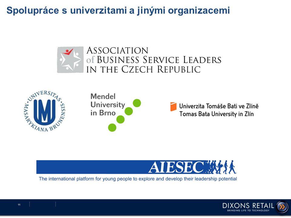 Spolupráce s univerzitami a jinými organizacemi 11