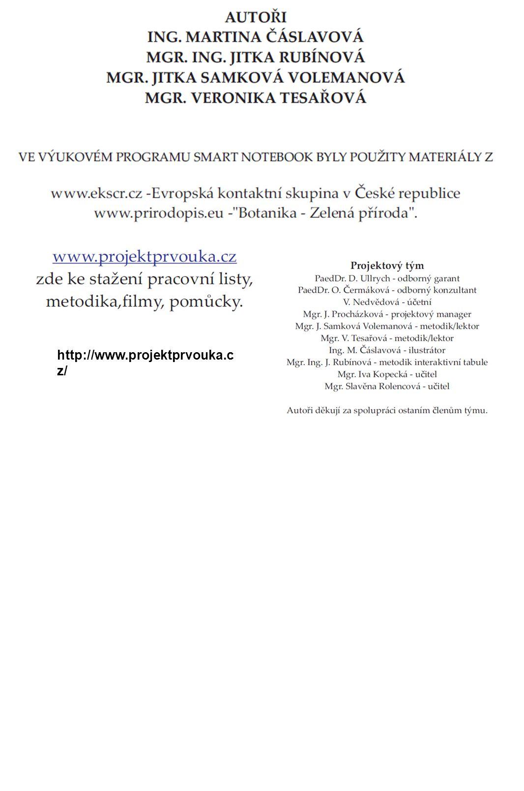 http://www.projektprvouka.c z/