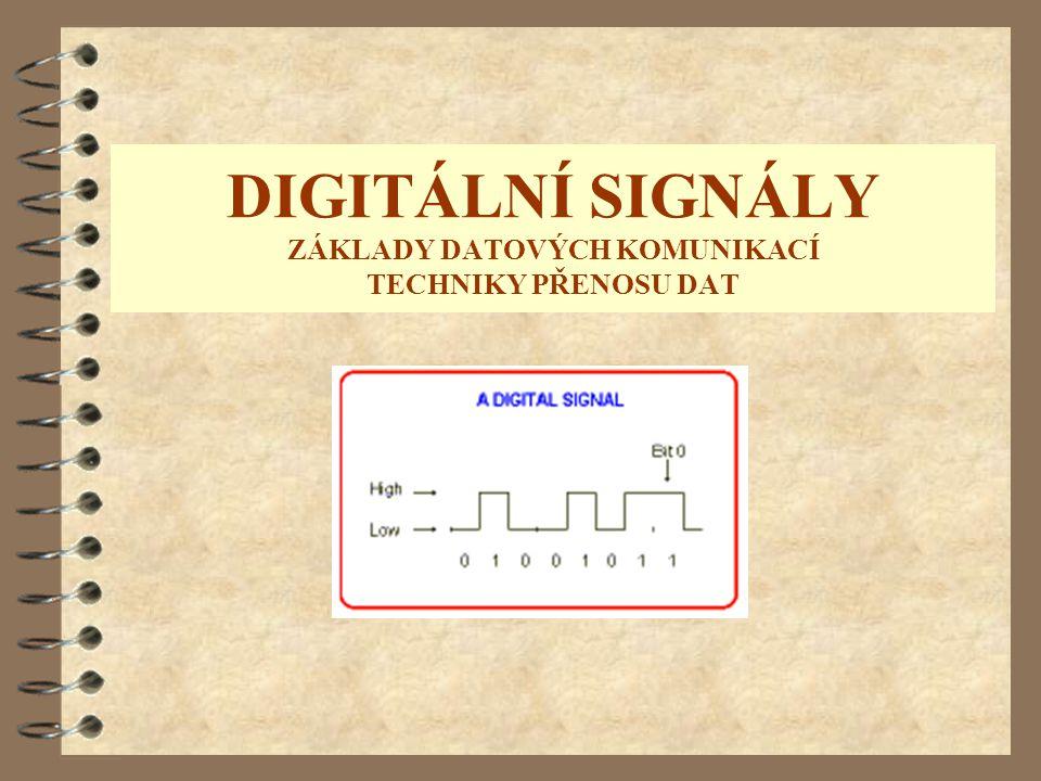 DIGITÁLNÍ SIGNÁLY ZÁKLADY DATOVÝCH KOMUNIKACÍ TECHNIKY PŘENOSU DAT