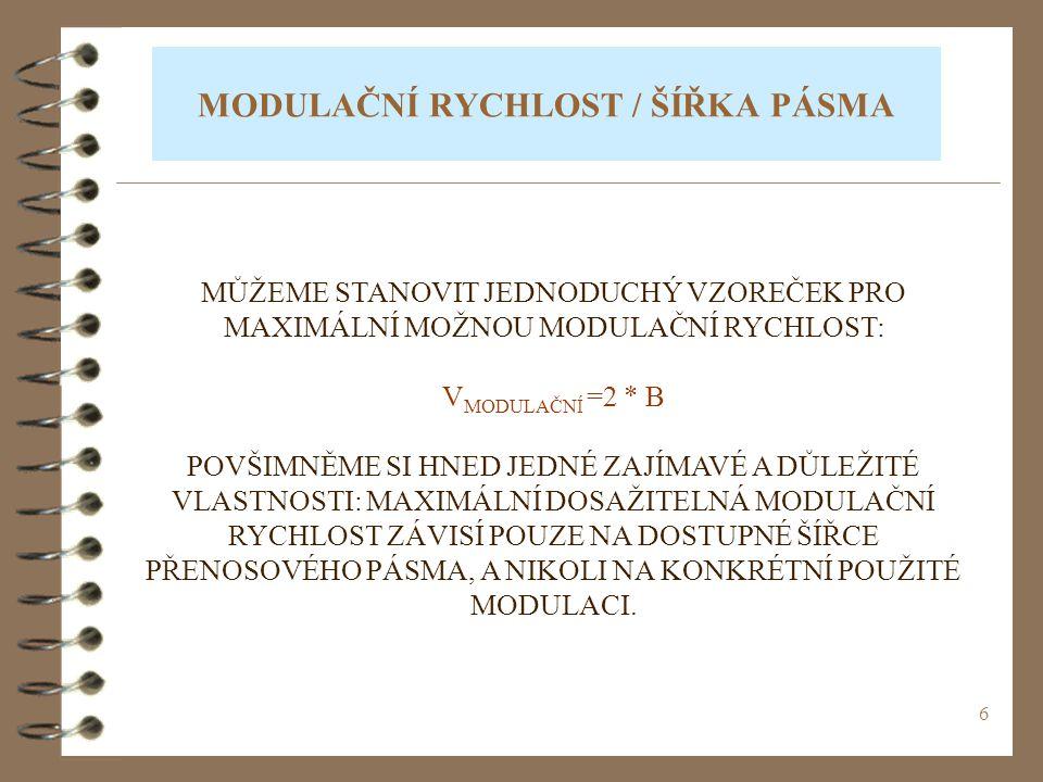 7 MODULAČNÍ VS.