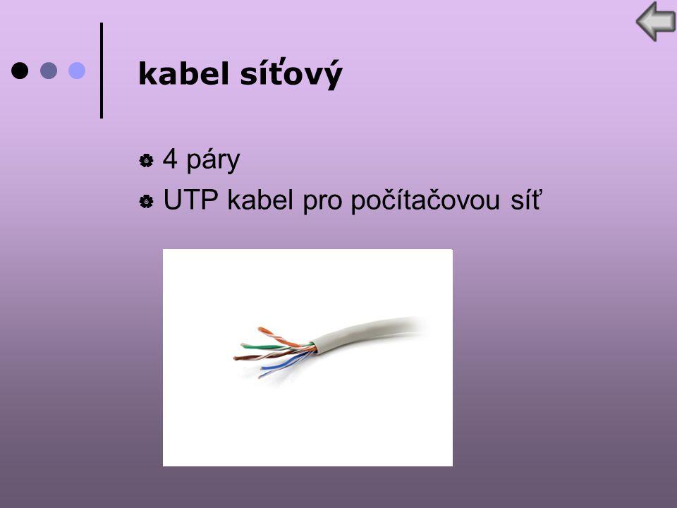 kabel síťový  4 páry  UTP kabel pro počítačovou síť