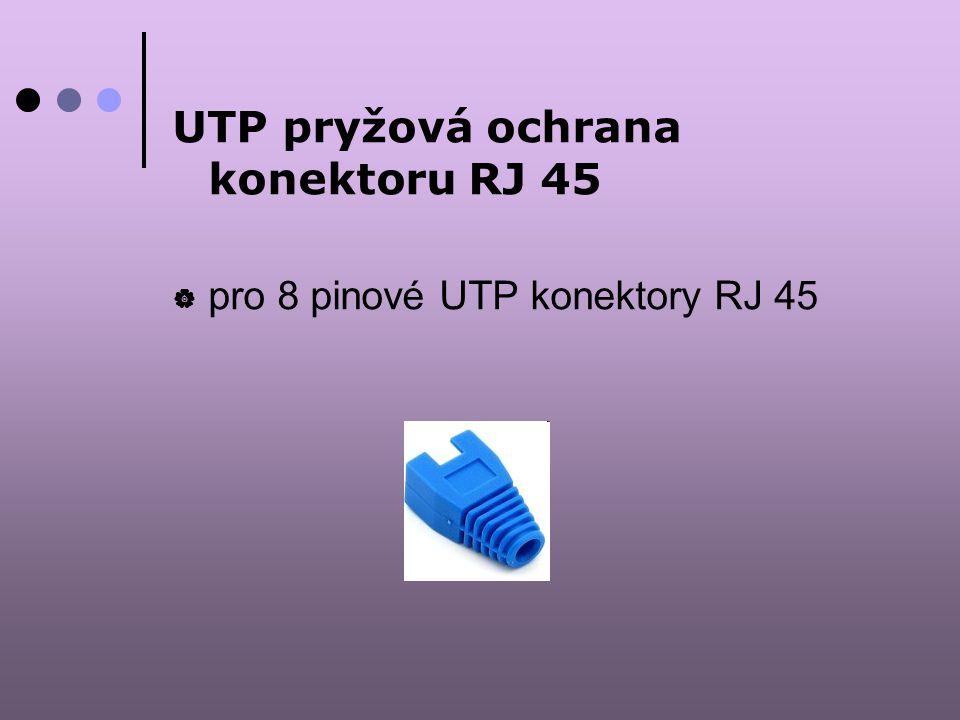 UTP pryžová ochrana konektoru RJ 45  pro 8 pinové UTP konektory RJ 45