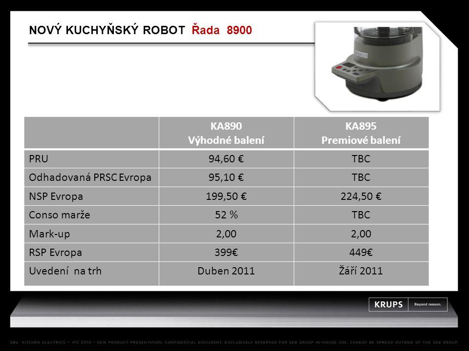 KA890 Výhodné balení KA895 Premiové balení PRU94,60 €TBC Odhadovaná PRSC Evropa95,10 €TBC NSP Evropa199,50 €224,50 € Conso marže52 %TBC Mark-up2,00 RS