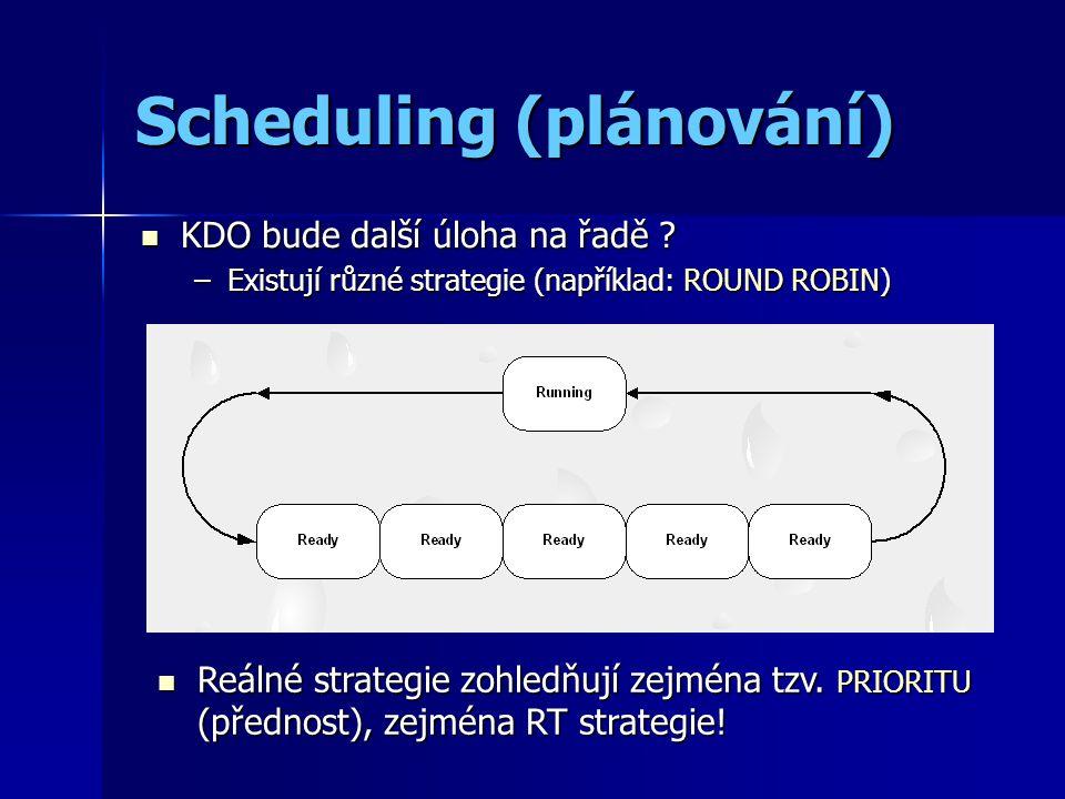 Scheduling (plánování) KDO bude další úloha na řadě .