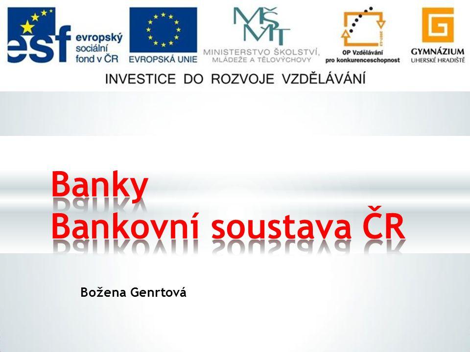 Božena Genrtová Banky Bankovnísoustava ČR