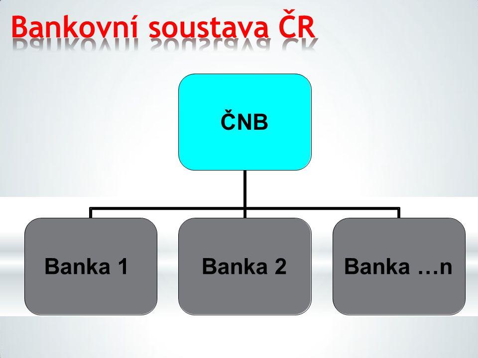Bankovní soustava ČR ČNB Banka 1Banka 2Banka …n