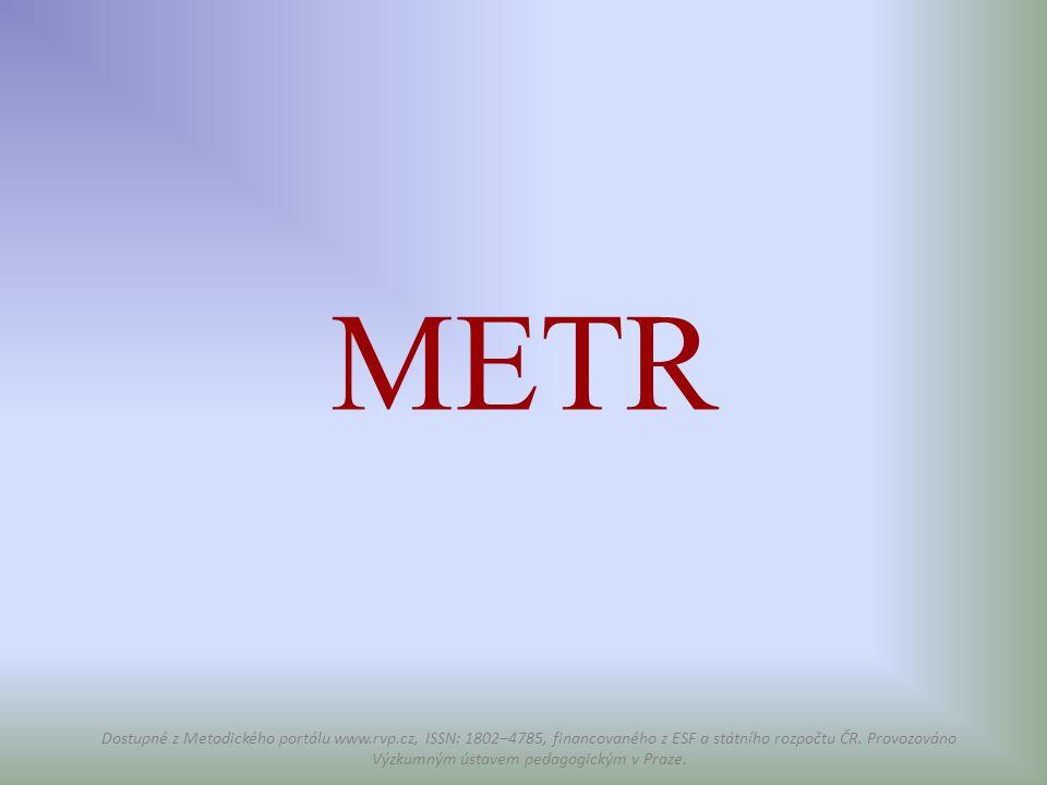 METR Dostupné z Metodického portálu www.rvp.cz, ISSN: 1802–4785, financovaného z ESF a státního rozpočtu ČR. Provozováno Výzkumným ústavem pedagogický
