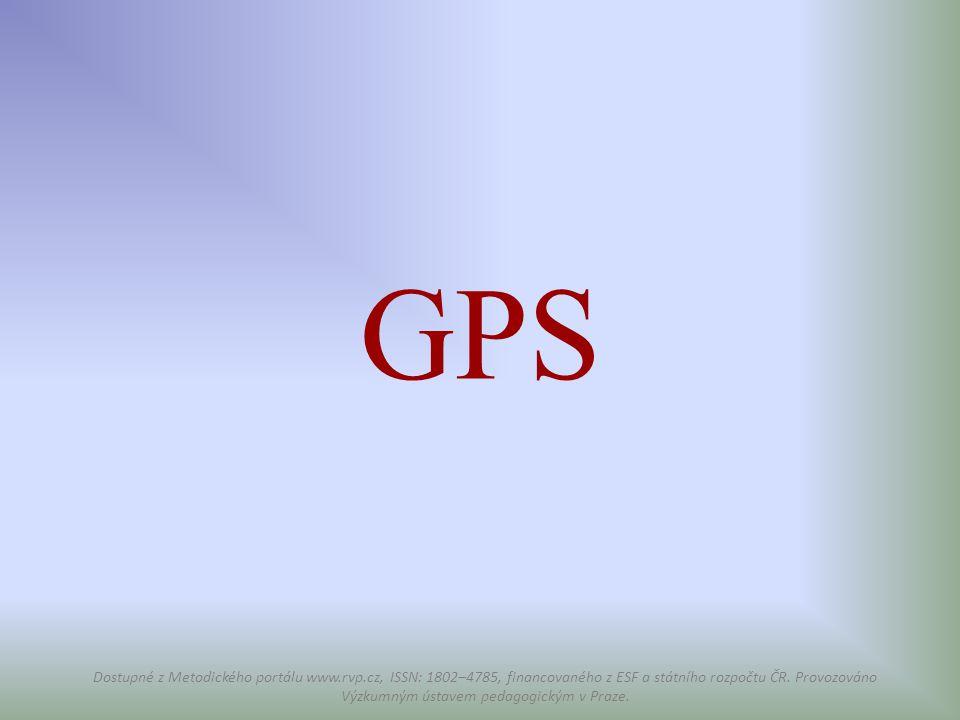 GPS Dostupné z Metodického portálu www.rvp.cz, ISSN: 1802–4785, financovaného z ESF a státního rozpočtu ČR. Provozováno Výzkumným ústavem pedagogickým