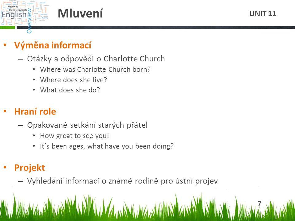 Mluvení Výměna informací – Otázky a odpovědi o Charlotte Church Where was Charlotte Church born.