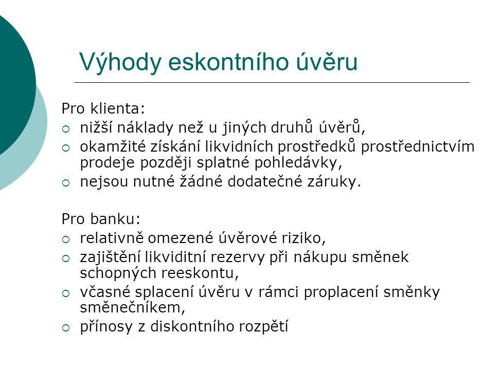 Příklad č. 2  Klient Commerzbank zasílá svému českému partnerovi zúčtovací šek na 20 tisíc EUR.