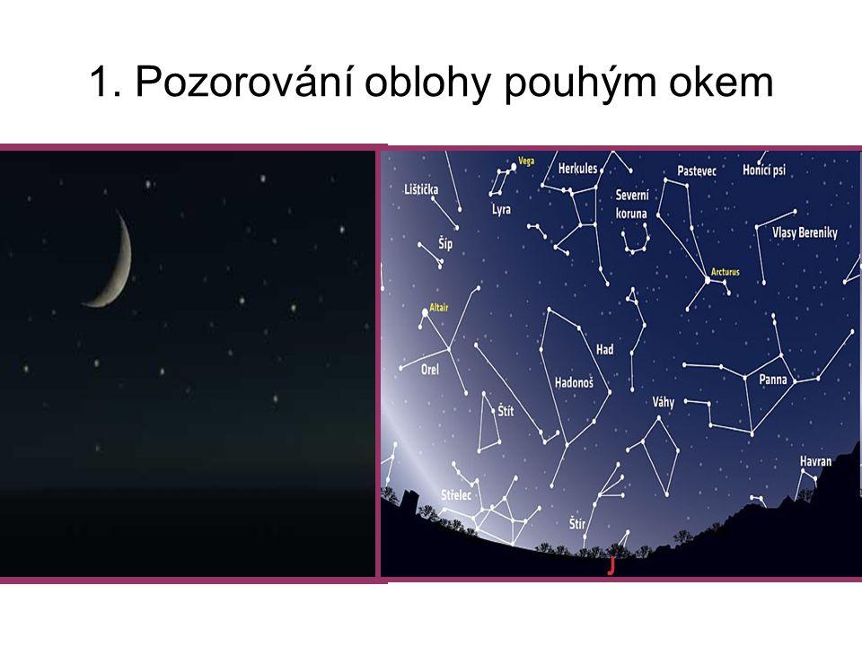 1. Pozorování oblohy pouhým okem