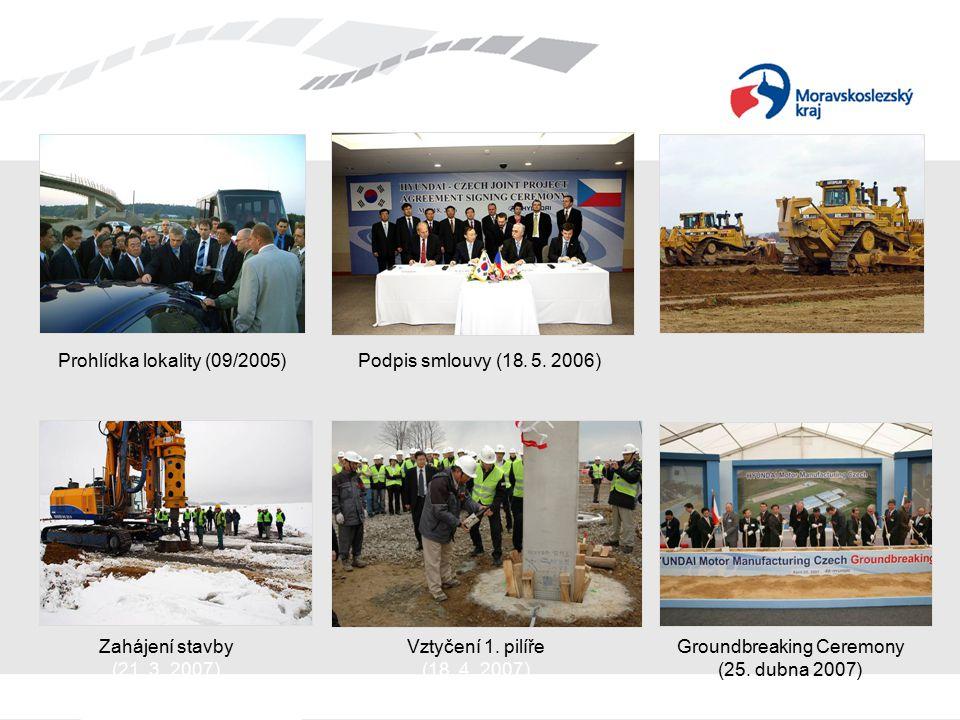 Prohlídka lokality (09/2005)Podpis smlouvy (18. 5. 2006) Zahájení stavby (21. 3. 2007) Vztyčení 1. pilíře (18. 4. 2007) Groundbreaking Ceremony (25. d