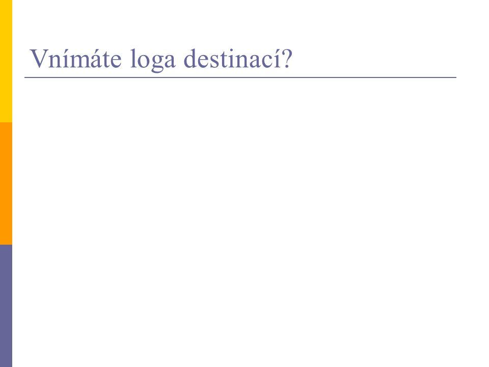 Vnímáte loga destinací