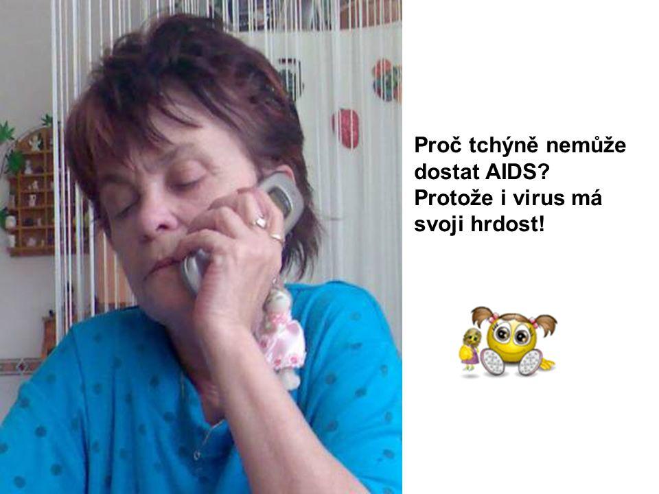 Proč tchýně nemůže dostat AIDS? Protože i virus má svoji hrdost!