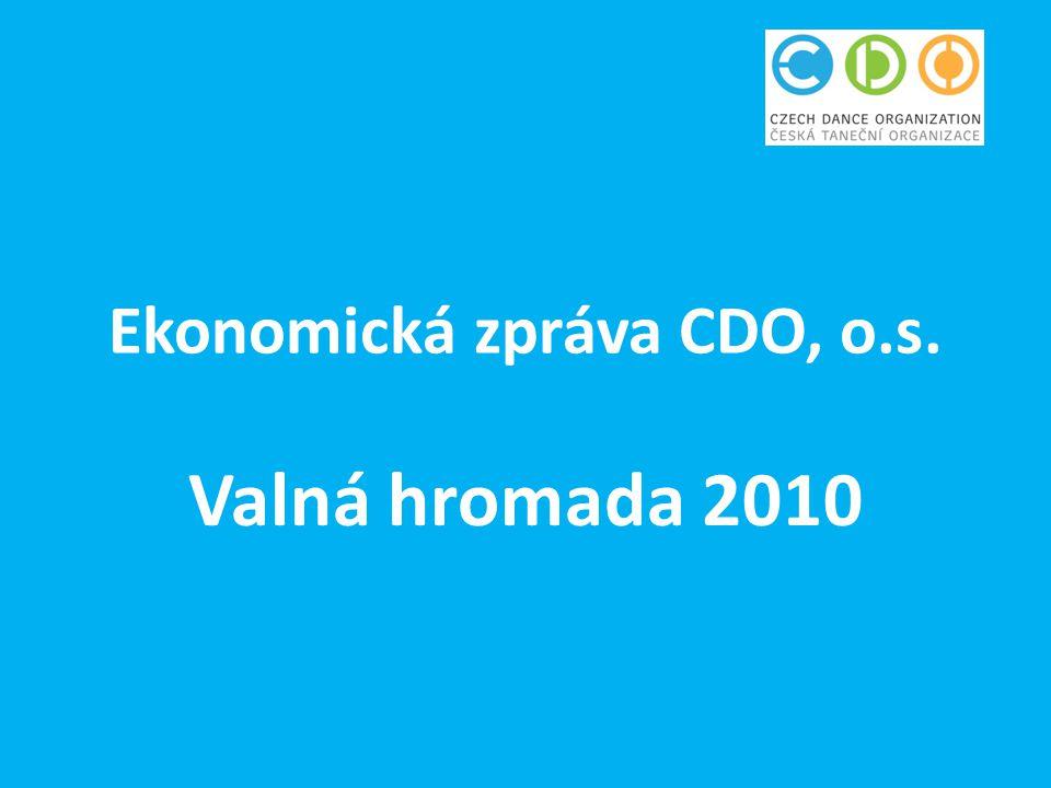 Ekonomická zpráva CDO, o.s. Valná hromada 2010