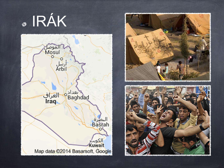 radikálové postupně obsazují irácké území s cílem vybudovat islámský chalífát křesťané, kteří zůstanou v dobytých městech a vesnicích, jsou postaveni před volbu: obrátit se k islámu, zaplatit výpalné umožňující jim v oblasti zůstat, navždy opustit svůj domov nebo přijít o život většina křesťanů uprchla do oblastí ovládaných Kurdy, avšak ani tam nejsou zcela v bezpečí kvůli přeplněnosti táborů, nedostatku zdrojů a nebezpečí nákazy smrtelnými chorobami