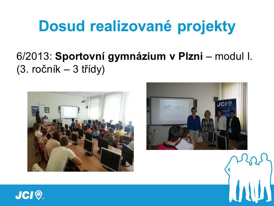 Dosud realizované projekty 6/2013: Sportovní gymnázium v Plzni – modul I. (3. ročník – 3 třídy)