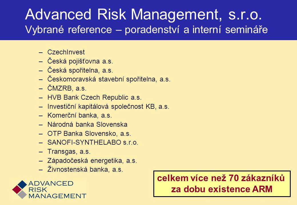 Ukázka výpočtu kapitálového požadavku v rámci CADCalc Credit  Nastavení parametrů IRB přístupu a prostředků Credit Risk Mitigation (záruky a zajištění)  Výpočet kapitálového požadavku ke kreditnímu riziku  Kontrola logické správnosti a úplnosti vstupních dat  Stresové testování  Koncentrace portfolia  Reporting