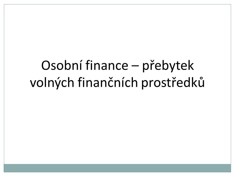 Osobní finance – přebytek volných finančních prostředků