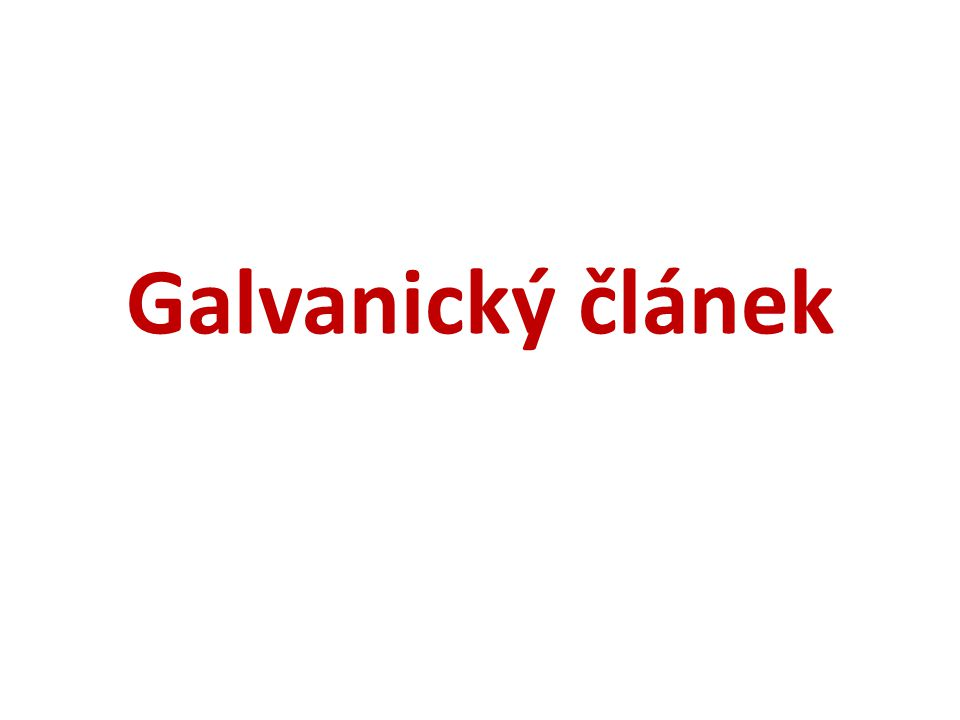 Galvanický článek