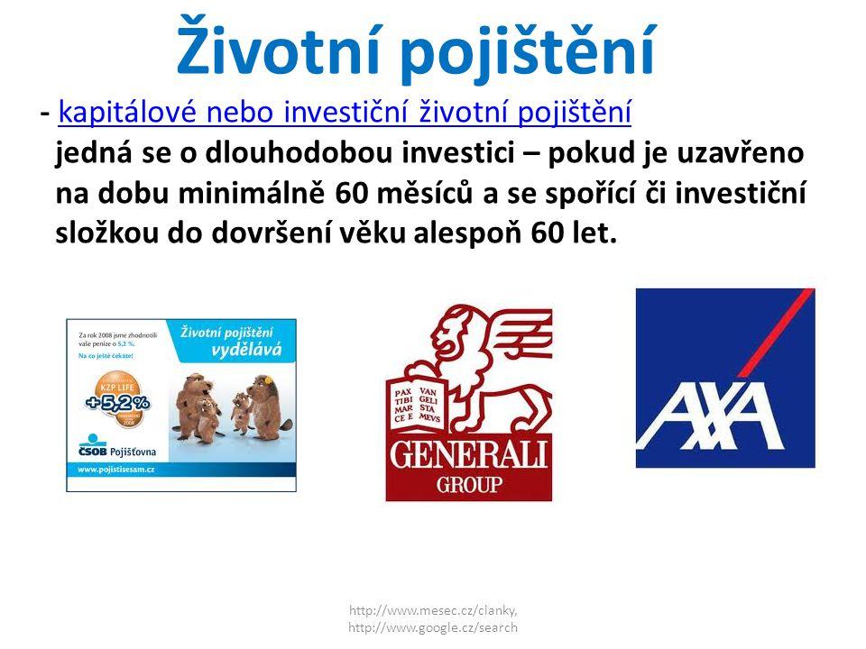 http://www.mesec.cz/clanky, http://www.google.cz/search Penzijní připojištění -dlouhodobý spořící produkt státem podporovaný, výhodný zejména díky státní podpoře