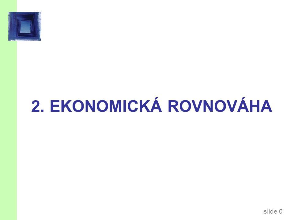 slide 0 2. EKONOMICKÁ ROVNOVÁHA