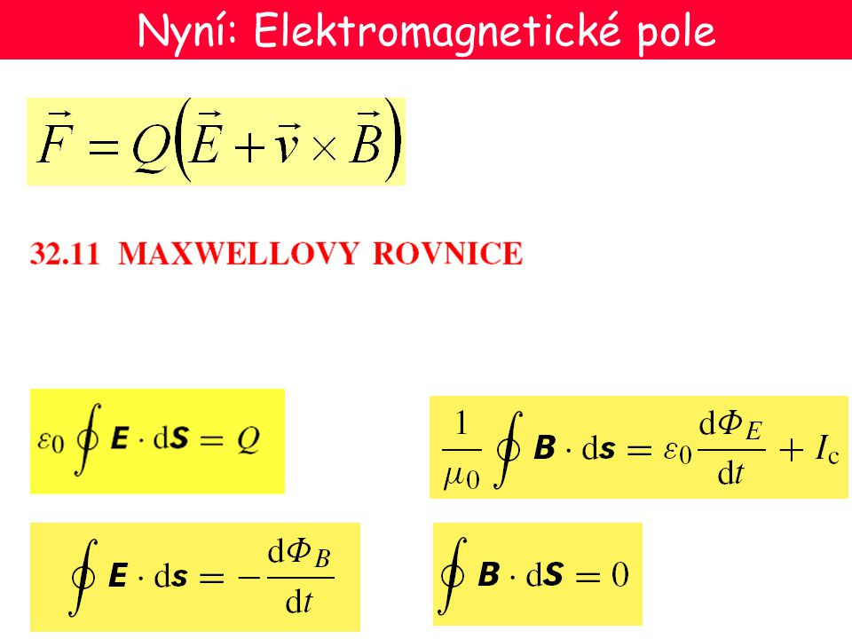 Nyní: Elektromagnetické pole