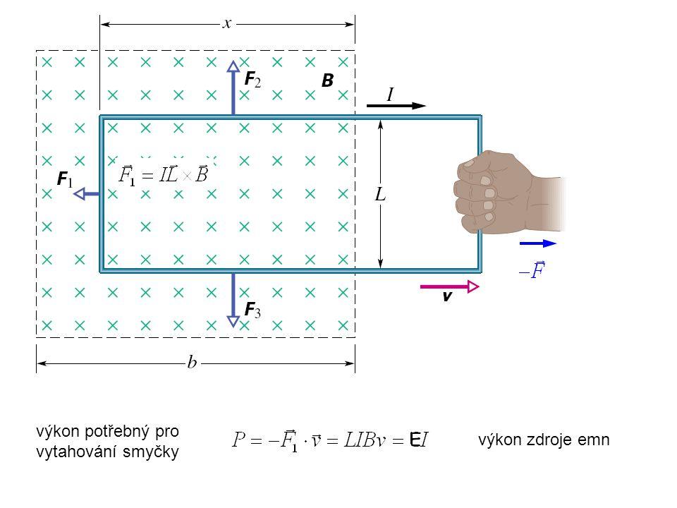 Vlastní indukce 1 H (henry) = =1 T.m 2 A. -1 I rostoucí I klesající B