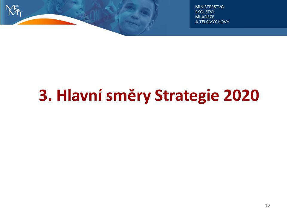 13 3. Hlavní směry Strategie 2020
