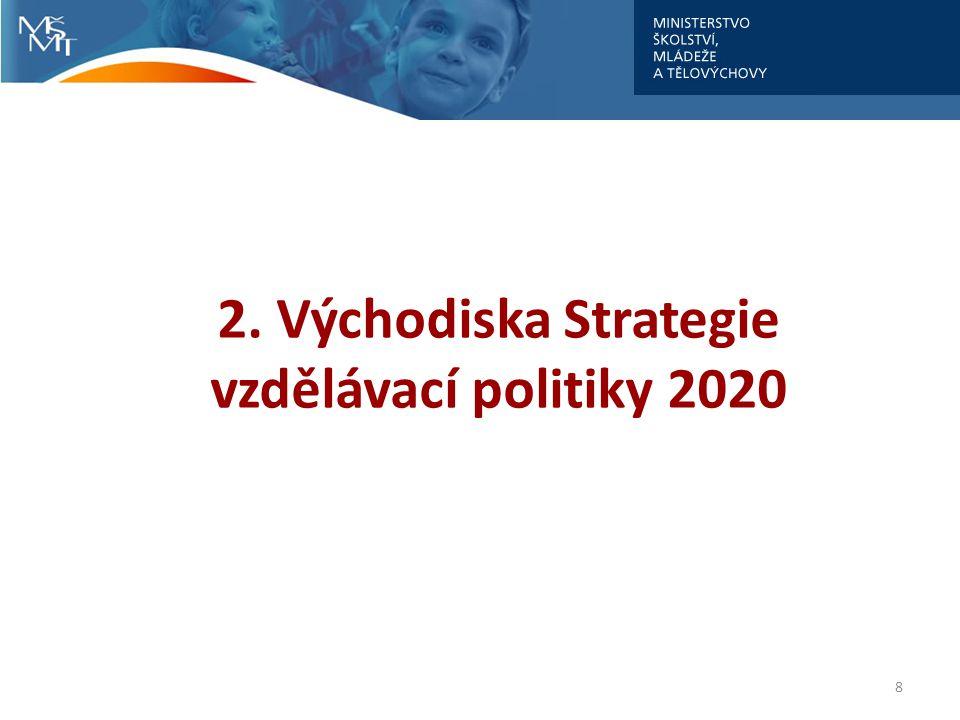 8 2. Východiska Strategie vzdělávací politiky 2020
