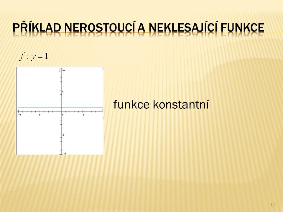 funkce konstantní 11